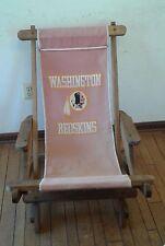 Vintage Washingston Redskins Wood folding slider-rocking chair Tailgate skins