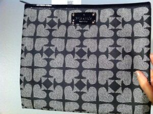 Kate Spade Ace Of Spades Clutch Tablet Case Red or Black Pebbled Adrianne New