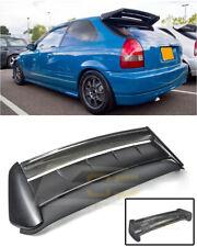 For 96-00 Civic Hatchback SEEKER V2 Style CARBON FIBER Rear Roof Wing Spoiler