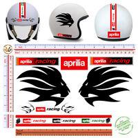 Adesivi casco aprilia racing sticker helmet tuning motorcycle fustellato 10 pz.