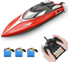 Deerc Rc Boats H120 Capsize Recovery 20+ mph 2.4 Ghz Racing Boat with 3 Battery