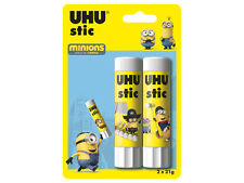 Minions Edition Twin Pack of 2 x UHU Glue Stick for Children, Office,Art Paper