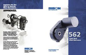 Bison 562 Hollow-Shaft Gearmotor 12v DC 1/4HP 111:1 536 Inch-LBS Torque