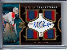 2012-13 12-13 UD The Cup PATRICK ROY Cup Foudations AUTO PATCH / 5