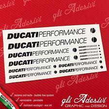 Set 13 Adesivi DUCATI Performance OLD moto Bianco e Nero