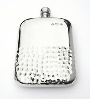 6oz Pewter Hammered Hip Flask Gift With FREE ENGRAVING Gift