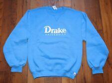 Vintage Drake University OVO Baby Blue Crewneck Sweater size Womens Large Iowa