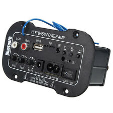 Coche Bluetooth Hi-Fi Amplificador Estéreo Bajo Tubos convertidor de voltaje
