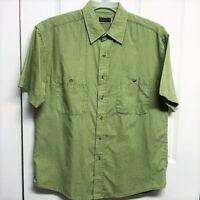 Gussini Men's Green Plaid Shirt Size M