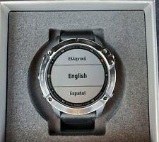 Garmin Fenix 6 Pro GPS Watch 47mm Black Stainless Steel with Black Band NR!