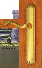 FPL Chateau Privacy Door Lever Handle Set Left Hand Antique Nickel