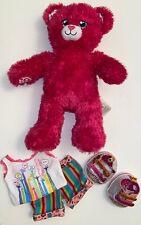 """Build A Bear Barbie Pink Sparkle Bear 16"""""""
