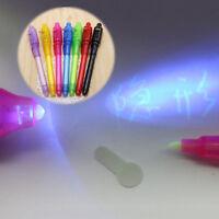 Lápiz Luz UV Marcador de Seguridad de Tinta Invisible con luz Ultravioleta LED