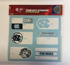 NC Tar Heels Christmas Present Name Labels - Team Gift Stickers - To/From