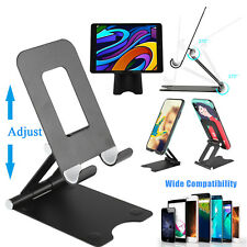 Adjustable Phone Tablet Stand Aluminum Desk Table Holder Cradle For iPhone iPad