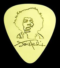 JIMI  HENDRIX - Solid Brass Guitar Pick, Acoustic, Electric, Bass