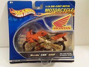 2001 Hot Wheels 1:18 1/18 Die Cast Motorcycle Honda CBR 600F Orange