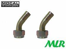 Mocal HEF43-8 45 ° 1/2 Bsp Refrigerador De Aceite Remoto Manguera Filtro Accesorios Sindicatos QB de tubo