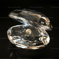 RARE Retired Swarovski Crystal Large Oyster Shell with Pearl 014389 Mint Boxed