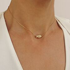 14K Gold Filled Goldfish Pendant Necklace for Her - Bead Fish Choker for Women