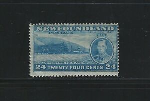 NEWFOUNDLAND - #241 - 24c KING GEORGE VI LONG CORONATION ISSUE MINT STAMP MLH