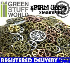 Steampunk Set 85 gr - SPIRAL Cogs and Gears - Medium Size -- Jewellery Making