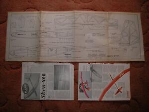 "Silent Flight Plans of the Shen Ven a slope soarer model 58"" wingspan"