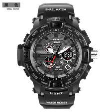 SMAEL Fashion Men Watch LED Dual Display Digital Electronic Sport Wrist Watches