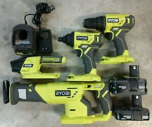 RYOBI One+ 4 Tool Combo Kit w/ 2 Battery & Charger
