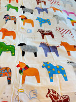 IKEA Dala Horse Home Decor Fabric Heavy Bold Print