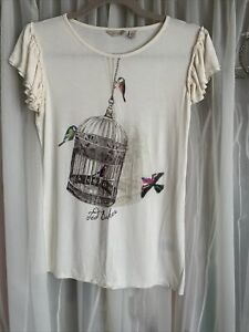Ted Baker Cream Bird Cage Top Size 10/12
