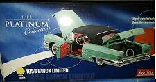 1958 BUICK LIMITED CLOSED Diecast 10 inch SUNSTAR 1:18 PLATINUM SS GREEN