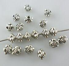 80pcs Tibetan Silver Small Lantern Charm Loose Spacer Beads Jewelry 5x3.5mm