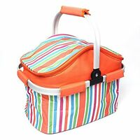 Insulated Folding Cooler Picnic Basket Bag Thermal Tote Hot and Cold Food