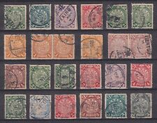 China 1897/1900 - Lot of 24 Coiling Dragon stamps - All Used VF Very Fine..X3003