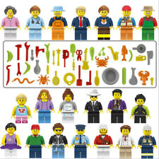 New 20PCS City Serie Normal people with AccessoriesFigures Fit Lego Building Toy