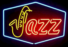 "New Jazz Shop Open Beer Bar Neon Light Sign 24""x20"""