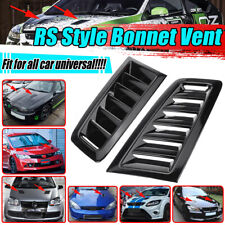 For BMW E81 E82 E87 E88 Pair Gloss Black Add on Hood Bonnet Scoop Vent Cover