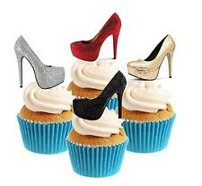 Ladies Glamour Shoes Collection 12 Edible Stand Up wafer paper cake toppers