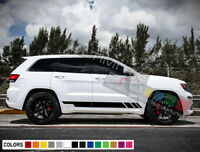 Sticker Decal Vinyl Side Door Stripes for Jeep Grand Cherokee 2011-2019 Hemi SRT