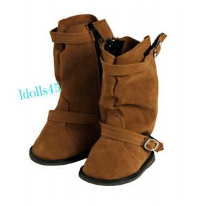 """Adora 18"""" Friends Brown Slouchy Boots w/buckle Shoes  SKU#20553020 Ages 6+"""