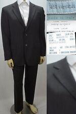 John Varvatos Men's Suit Size  42R 32 X 31 Brown Pinstriped