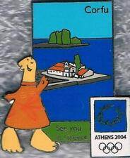 LE 2004 Athens Olympic Mascots See You in Greece Corfu Pin