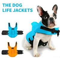 US Pet Dog Saver Life Jacket Vest Preserver Puppy Large Swimming Safety Dress DS