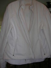Burberry Prorsom Cashmere Wool Cotton blend Moto Style Jacket size 10