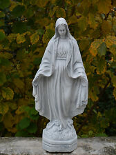 Große Steinfigur Statue Madonna heilige Maria aus Steinguss frostfest Grabdeko