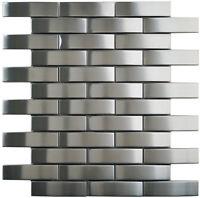 Mosaik Metall Edelstahl Grau Wand Boden Küche Bad Wc  Fliesenspiegel  | ES-86665