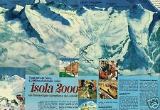 Publicité advertising 1970 (3 pages) La Station de Ski Isola 2000