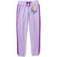 Disney Frozen Girls Joggers Pants Elsa Anna Purple Size XSmall 4-5 NWT