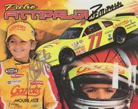 2011 Pietro Fittipaldi + Emerson Fittipaldi signed NASCAR Whelen postcard